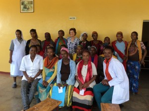 Amanda Dunn with the antenatal clinic. Sister Haimanot, Nurse Fellaketch, Nurse Daud